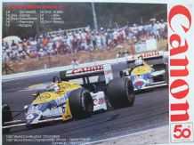 "WILLIAMS FW11 HONDA Nelson Piquet/Nigel Mansell 1987 CANON poster 23x17""(590 x 430mm)"